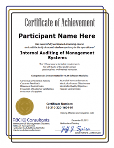 how to become a certified iso 14001 auditor